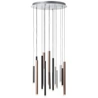 Lampadario Moderno Cembalo LED 16x4W PE 16 LED integrato caffè, in metallo, D. 55.3 cm, 16 luci, BRILLIANT