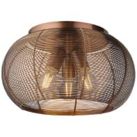 Plafoniera Sambo 3xE27 DE marrone, in metallo,  D. 40 cm 3  luci BRILLIANT