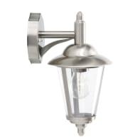 Applique Neilin alluminio, grigio / argento, E27 MAX60W IP44 BRILLIANT