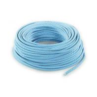 Cavo elettrico cavo tessile MERLOTTI 2 fili x 0.75 mm² Matassa 50 m bianco/turchese