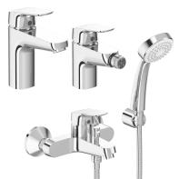 Set rubinetti base Cromato