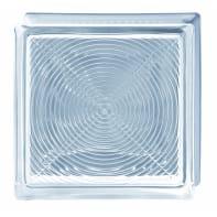 Vetromattone BORMIOLI Pedonabile trasparente lucido H 19 x L 19 x Sp 8 cm