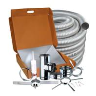 Kit tubo KIT INTUBAMENTO FLEX 9 M in inox 316l (elevata resistenza in condizioni climatiche estreme) L 65 cm x Ø 100 mm