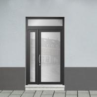 Portoncino d'ingresso Condo20 nero L 132 x H 250 cm destra