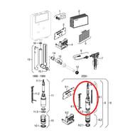 Meccanismo di scarico per cassetta wc GEBERIT
