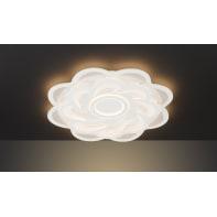 Plafoniera moderno Ica LED integrato bianco, in acrilico,  D. 80 cm 80x80 cm, WOFI