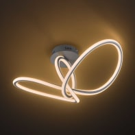 Plafoniera moderno Madison LED integrato grigio, in acrilico,  D. 80 cm 80x80 cm, WOFI