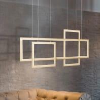 Lampadario Glamour Gwyn LED 60W / PE / 3800lm / 3000K LED integrato oro scuro, alluminio, in metallo, BRILLIANT