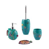 Set di accessori per bagno pesce multicolore in ceramica