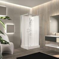 Cabina doccia senza tetto rettangolare PERLA 100 x 80 cm