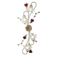 Applique Rose avorio, in metallo, 4 luci