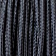 Cavo tessile MERLOTTI 2 fili x 0,75 mm² nero 3 metri