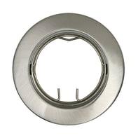 Ghiera per faretto da incasso orientabile tondo Clane in alluminio, nichel, diam. 8.2 cm 2.5xGU10 MAX40W IP23 INSPIRE 1 pezzi