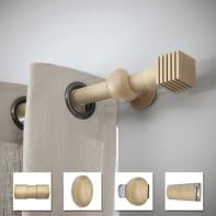 Supporto rosetta Ø28mm Atelier in legno rovere verniciato 140cm, 2 pz INSPIRE