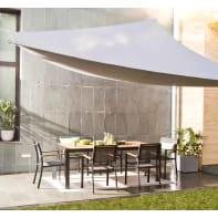 Vela ombreggiante triangolare grigio antracite 300 x 400 cm