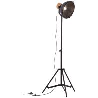 Lampada da terra Emma E27 STA 1 nero, in metallo, H140cm, E27 BRILLIANT