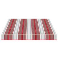 Tenda da sole a bracci estensibili manuale TEMPOTEST PARA' L 2.4 x H 2 m Cod. 5167/11 rosso, grigio, avorio