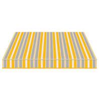 Tenda da sole a bracci estensibili manuale TEMPOTEST PARA' L 350 x H 210 cm azzurro, giallo, avorio Cod. 294