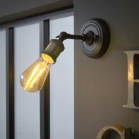 Applique industriale Braccio alluminio/ottone, in metallo,  D. 14 cm 15 cm, INSPIRE