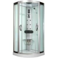 Cabina doccia idromassaggio semicircolare EKLIS 90 x 90 cm