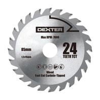 Lama per sega circolare DEXTER POWER acciaio e carbonio Ø 85 mm 24 denti