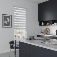 Tenda a rullo Orleans grigio chiaro 90 x 190 cm
