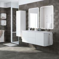 Mobile bagno Liverpool bianco lucido L 140 cm