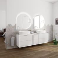 Mobile bagno Bellagio bianco L 176 cm