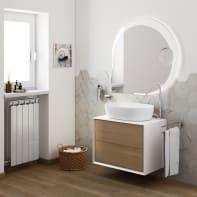 Mobile bagno bian e rovere L 71 cm