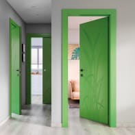 Porta a battente Blades Green verde L 70 x H 210 cm sinistra
