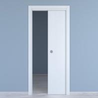 Porta scorrevole a scomparsa Renoir bianco venato L 80 x H 210 cm reversibile