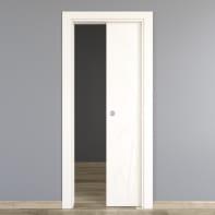 Porta scorrevole a scomparsa Blades White bianco L 80 x H 210 cm reversibile