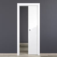 Porta scorrevole a scomparsa Bright bianco L 70 x H 210 cm reversibile