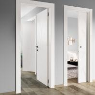 Porta a battente Blades White bianco L 60 x H 210 cm destra