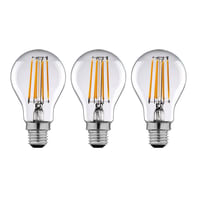 Lampadina LED filamento E27, Goccia,  diffusore Trasparente, col.luce Bianco, Luce calda, 12W=1521LM (equiv 100 W), 360° , LEXMAN , set di 3 pezzi