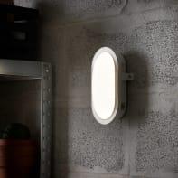 Applique Ovale LED integrato in plastica, bianco, 12W 1300LM IP44