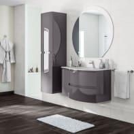 Mobile bagno Vague antracite L 104 cm