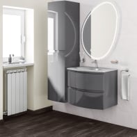 Mobile bagno Vague antracite L 69 cm