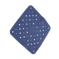 Tappeto antiscivolo quadrata Normal in caucciù blu 53 x 53 cm