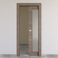 Porta da interno scorrevole Stylish vetro gris clair 80 x H 210 cm reversibile