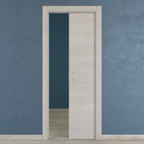 Porta da interno scorrevole One ecrù 90 x H 210 cm reversibile
