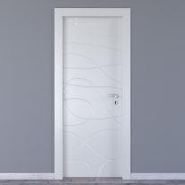 Porta da interno battente Wind white bianco 70 x H 210 cm sx