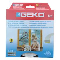 Guarnizione per porte e finestre adesiva bianco sp. 3 mm