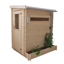 casetta in legno grezzo Mini Garden 1,61 m², spessore 19 mm