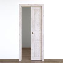 Porta da interno scorrevole Old Town bianco sbiancato 70 x H 210 cm reversibile