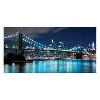 quadro su tela Blu lights 50x100