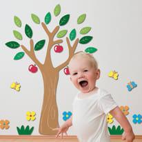 Sticker 3D Foam L Apple tree