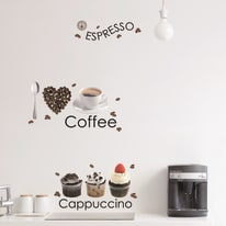 Wallsticker L Espresso