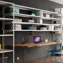 Scaffale metallo bianco a parete 3 ripiani L 100 x P 30 x H 150 cm