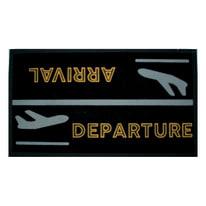 Zerbino Arrival/departure nero 40 x 70 cm